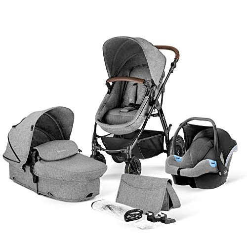 Kinderkraft Pram 3 in 1 Set MOOV, Travel System, Baby Pushchair, Buggy,...