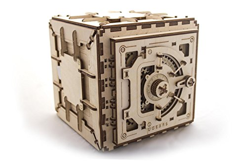 UGEARS Model Safe Kit | 3D Wooden Puzzle | DIY Mechanical Safe