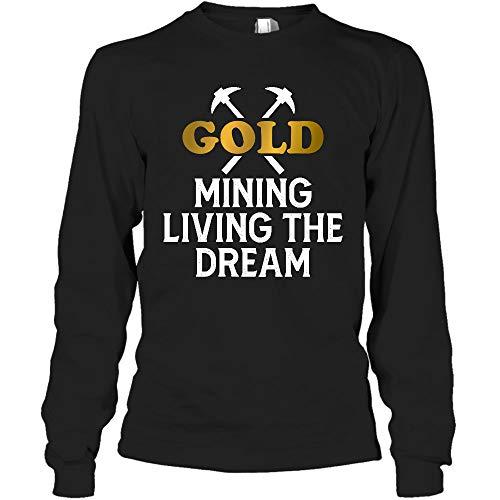AZSTEEL Gold Panning Mining Prospecting Miners - Camisa de manga larga