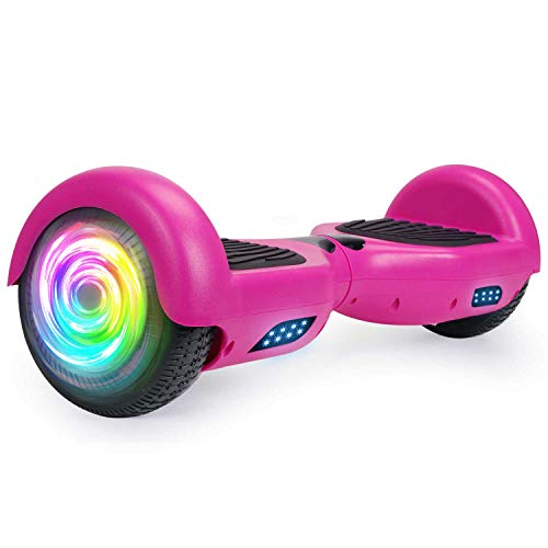 """SISIGAD Hoverboard 6.5"""" Two-Wheel Self Balancing Hoverboard for Adult Kids Gift - Purple(No Bluetooth)"""