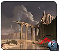 ZMvise砂漠古代都市背景ファッション漫画マウスパッドマットカスタム四角形ゲームマウスパッド