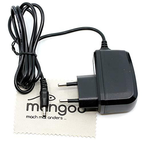 Ladegerät passend für Nokia 6230i, 3310, 3410, 3510, 6210, 6220, 6310, 6310i, 6020, 6021, 6610, 6610i (nur R&stecker) Ladekabel Netzteil 0,5A OTB mit mungoo Bildschirmputztuch