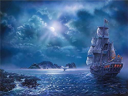 Puzzle 1500 Pezzi Adulti, Gioco di Abilità per Tutta la Famiglia, Gioco di Posa Colorato, Puzzle per Adulti da 14 Anni Barca a vela-1500 Pezzi