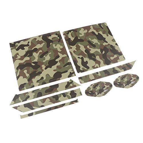F Fityle Für PS4 Slim Skin Sticker Folie schützende Haut Schale Aufkleber für Sony PS4 Slim Konsole und 2 Controller - YSP4S-0044