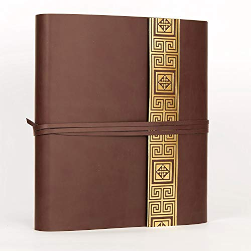 Belcraft Vietri groot gerecycled lederen fotoalbum, gemaakt in ITALIË, Memory fotoalbum, Scrapbook, fotoalbum 6x4, cadeau-idee en cadeau voor familie