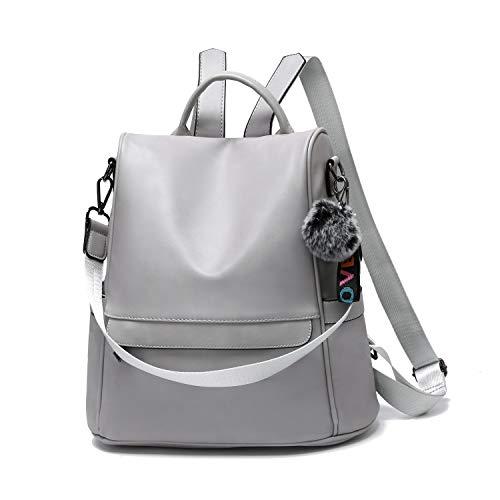 OUSIMEN Mochila Mujer Antirrobo de Cuero de PU Casual Bolsa Impermeable Bolso de Viaje Messenger Bag Backpack