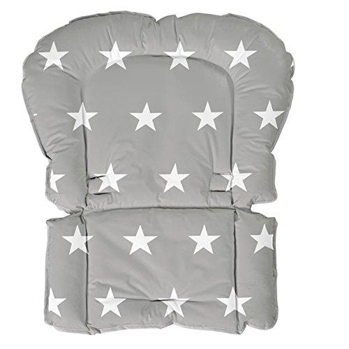 roba Universal Sitzverkleinerer, Hochstuhleinlage Folie \'Little Stars\' phthalatfrei, Sitzpolster passend für Hochstühle