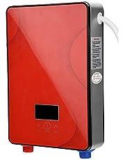 【𝐏𝐚𝐬𝐞𝐧】 Doorstroomboiler, 220 V 6500 W boiler zonder tank voor badkamer thuis, rode kleur