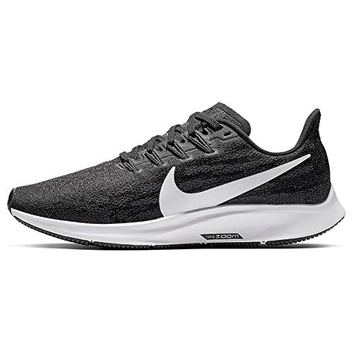 Nike Wmns Nike Air Zoom Pegasus 36, Women's Track & Field Shoes, Multicolour (Black/White/Thunder Grey 4), 2.5 UK (35.5 EU)