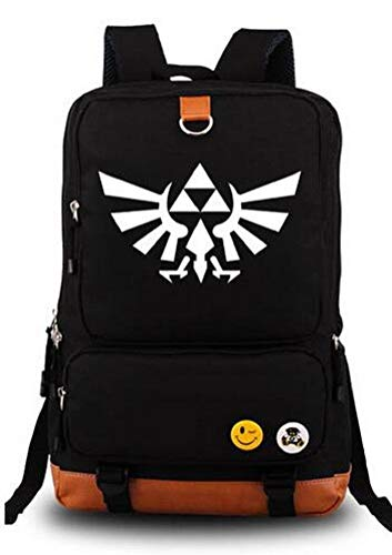 Anime The Legend of Zelda Cosplay Mochila Luminosa Mochila Mochila Escolar, Negro