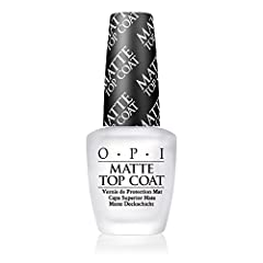 ADD A LITTLE EDGE to your manicure with a smooth matte finish with OPI's Top Coat Looks great over darker OPI NAIL POLISH shades like Lincoln Park After Dark, to lighter shades like Alpine Snow OPI Nail Lacquer TOP COAT provides up to 7 days of wear ...