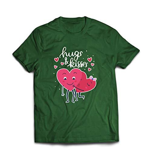 lepni.me - Camiseta para hombre, diseño de corazones