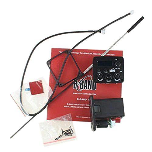 SODIAL Acústico Equipo de Sistemas de Recogida de Guitarra General B Band T35 Ecualizador de 3 Bandas con Afinador