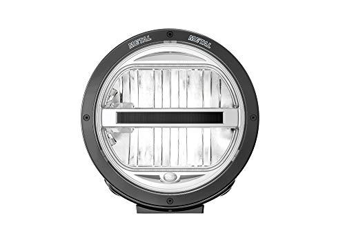 HELLA 1F8 016 560-011 Fernscheinwerfer - Luminator - LED - 12V/24V - rund - Ref. 50 - glasklare Streuscheibe - transparent - Anbau - Kabel: 800mm
