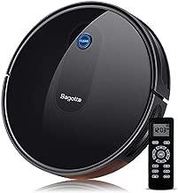 Robot Vacuum Cleaner, Bagotte BG600 Super-Thin, 1500Pa Strong Suction, Quiet, Self-Charging Robotic Vacuum Cleaner, Cleans Pet Hairs, Hard Floors to Medium-Pile Carpets