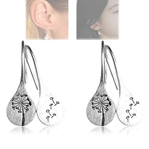 2 pairs Simple Fashion Dandelions Dangle Earrings Silver Color Dandelion Earrings Nature-inspired Dandelions Earrings Dandelion Drop Earrings for Women