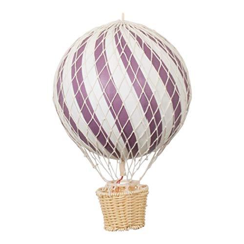 filib Abba 20cm globo de aire caliente ciruela–Un Globo de aire caliente de papel maché y madera para la decoración la habitación del bebé