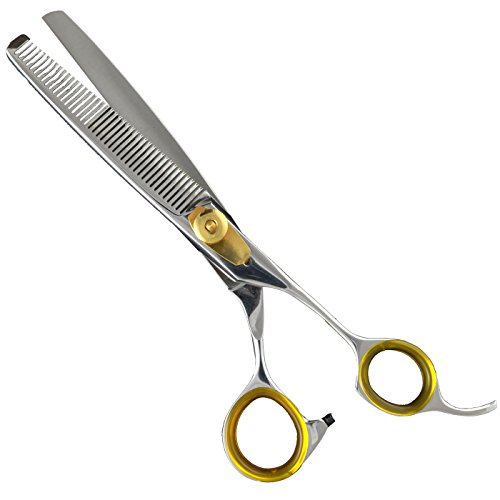 Sharf Gold Touch Pet Shears, 6.5' 42-Tooth Thinning Shear for Dogs, 440c Japanese Stainless Steel...
