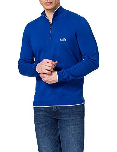 BOSS Herren Ziston_s21 10230532 01 Pullover, Blau, M EU