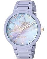 Nine West Women's NW/2274MALV Rubberized Lavender Bracelet Watch