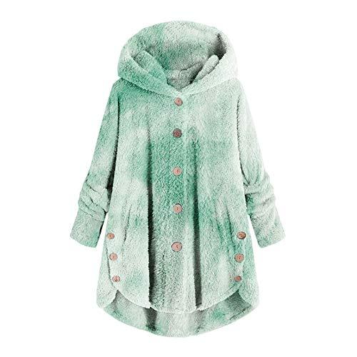 Lazzboy Store Wintermantel Damen Tie-dye Kontrast Plüsch Frauen Herbst Tasche Winter...