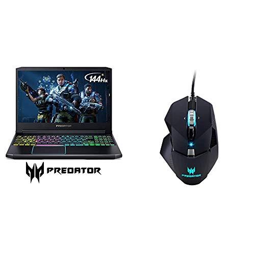Acer Predator Helios 300 Gaming Laptop, Intel Core i7-9750H, GeForce GTX 1660 Ti with Predator Cestus 510 RGB Gaming Mouse