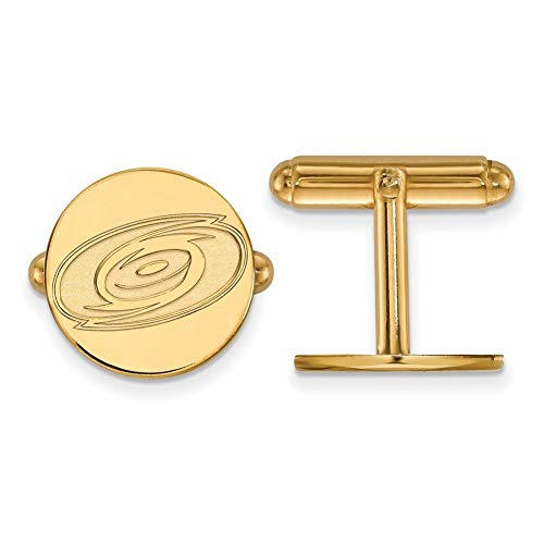 Lex & LU logoart 14K Gelb Gold NHL Carolina Hurricanes Manschettenknöpfe