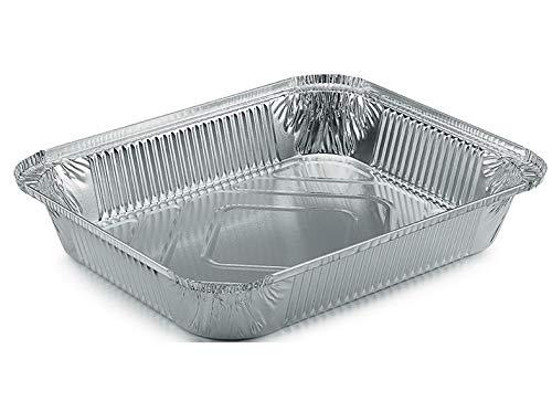 Aluminium schaal R 31 L rechthoekig diep 3240 ml met of zonder deksel Schale