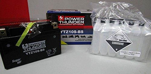 Batterie Power Thunder YTZ10S-BS (scellée avec acide) 2 V/8,6 Ah