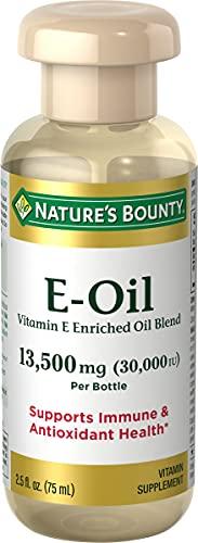 Vitamin E Oil by Nature's Bounty, Supports Immune Health & Antioxidant Health, 30,000IU Vitamin E, Topical or Oral oil, 2.5 Oz