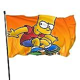 Bandera de S-im-ps-on con protección UV resistente a la decoloración banderas de decoración bandera de jardín al aire libre banderas de camping