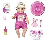 Zapf Creation 827321 BABY born Soft Touch Little Girl Puppe mit Funktionen und Zubehör, 36 cm