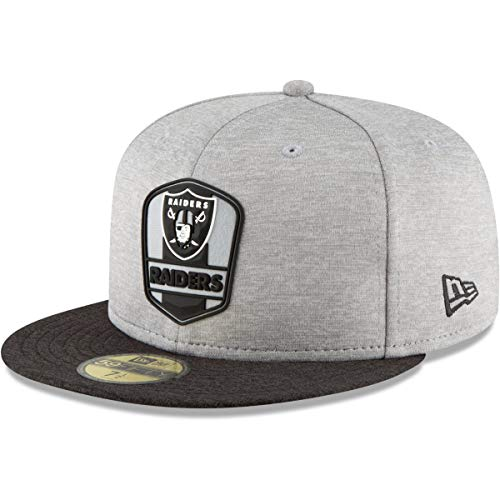 New Era Herren Fitted Cap NFL Oakland Raiders 59 Fifty grau 7 3/4-61,5cm