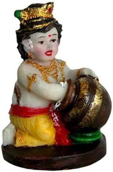 Butterthief Krishna Statue 2 Baby Hindu God Murti Art Decor Idol Golu Doll