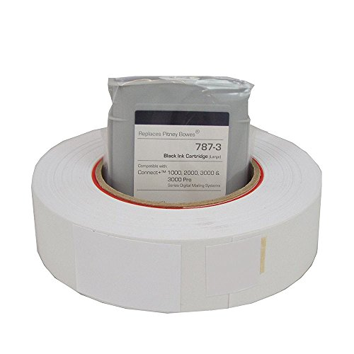 Preferred Postage Supplies Compatible PB 787-3 Black Ink Cartridge (Large) + 1 Roll Connect Tape for Connect + Series