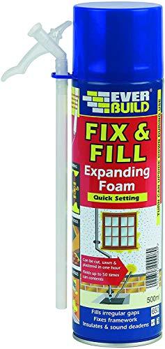 SIKA 3 x Fix & Fill Expanding Foam - Polyurethane foam for irregular gaps, fixes framework, insulates and sound deadens - 500ml - Beige