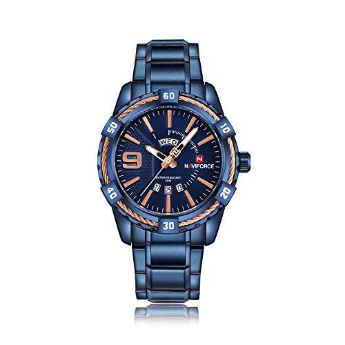 Reloj de Cuarzo analógico de Negocios de Moda para Hombre -C