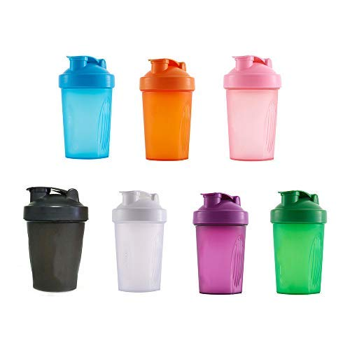 ZUHANGMENG Protein Shaker Cup with Stirring Ball, 400ML Sports Water Bottle, Container Storage for Protein or Supplements, Perfect Gym Fitness Gift