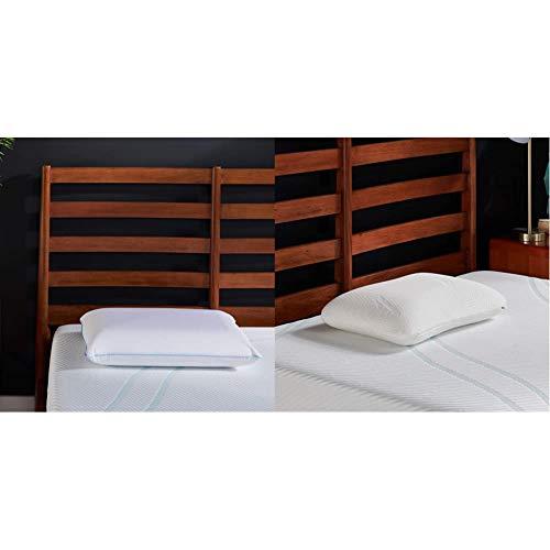 Tempur-Pedic TEMPUR-Cloud Breeze Dual Cooling Pillow, King & Symphony Pillow Luxury Soft Feel, Standard, White