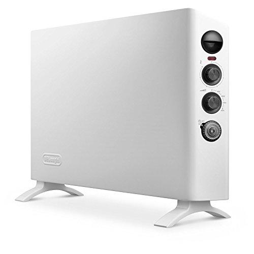 De'Longhi HSX3315FTS Digital 1500W Convection Panel Heater with Dual Fan, 16 lbs, White - Slim Style