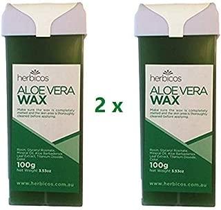 Huini 100g X 2 Roll-on Depilatory Wax Cartridge Aloe Vera Sensitive Skin Waxing Strip Wax Hair Removal Salon