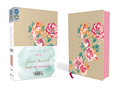 NIV  Journal the Word Bible for Teen Girls  Leathersoft over Board  Gold/Floral  Red Letter: Includes Over 450 Journaling Prompts!