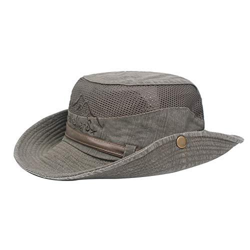 BIGBOBA Sombrero de Pescador Anti-UV algodón Sombrero Redondo Sombrer