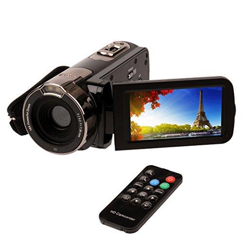 (inkint)フルハイビジョンビデオカメラ 2400万画素 1080P 16倍デジタルズーム 270度回転 ナイトビジョン...