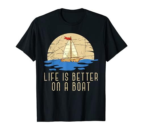 Mar Náutico Capitán Barco De Vela Marinero Velero Navegando Camiseta