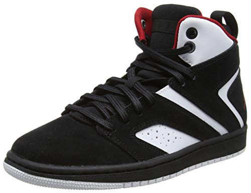 Nike Herren Jordan Flight Legend BG Basketballschuhe, Mehrfarbig (Black/Gym Red-White 023), 37.5 EU