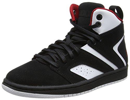 Nike Jungen Jordan Flight Legend BG Basketballschuhe, Mehrfarbig (Black/Gym Red-White 023), 37.5 EU