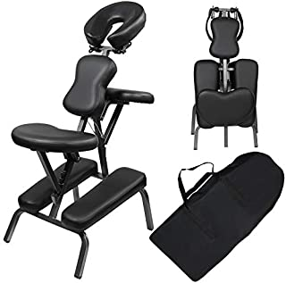 Portable Folding Light Weight Therapy Massage Spa Tattoo Adjustable Chair with Carrying Bag