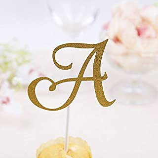 A B C Letter Cake Topper Cupcakes Flags Bridal Shower Glitter Shiny Paper Bachelorette Hawaiian Wedding Birthday Festival Party,O