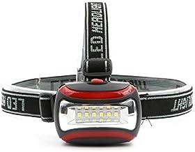 Zcm Koplampen Mini phare Draagbare 6 LED 3 modi faisceau lumineux 3 * AAA phare lanterne lampe frontale torche pour éclair...
